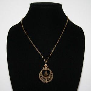 """Stunning vintage bronze necklace 20"""""""